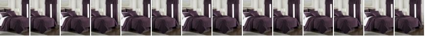 Colcha Linens Cambric Eggplant Comforter-Queen