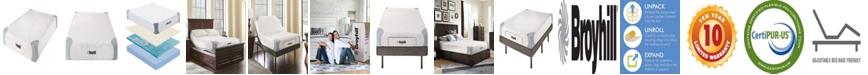 "Broyhill Sensura 8"" Twin Memory Foam Mattress With Cooling Gelflex Foam"