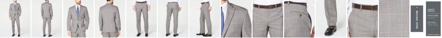 Michael Kors Men's Classic-Fit Airsoft Stretch Brown/Cream Windowpane Suit Separates