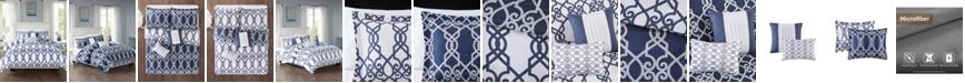 JLA Home 510 Design Neptune Full/Queen 5 Piece Reversible Print Duvet Set