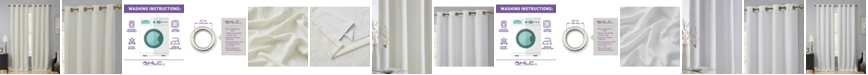 "HLC.me Obscura By Cairns 100% Blackout Grommet Curtain Panels - 50"" W X 108"" L - Set of 2"