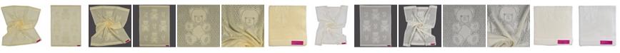 Southampton Home Lace Weave Bears Bows Baby Blanket