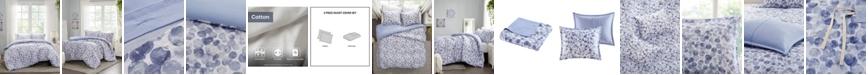 Madison Park Nells 3 Piece Full/Queen Cotton Printed Duvet Cover Set