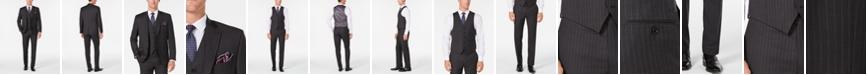 Lauren Ralph Lauren Men's Classic/Regular Fit UltraFlex Charcoal Stripe Vested Suit