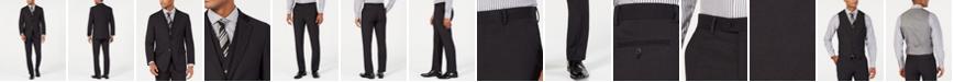 Perry Ellis Men's Portfolio Slim-Fit Stretch Black Solid Suit Separates