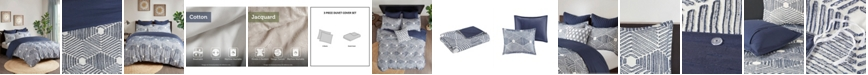 INK+IVY Ellipse 3-Piece King/Cal King Cotton Jacquard Duvet Set