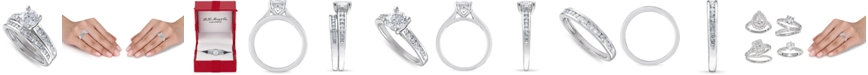 Macy's IGI Certified Diamond (1-1/2 ct. t.w.) Channel-Set Bridal Set in 14K White, Yellow or Rose Gold