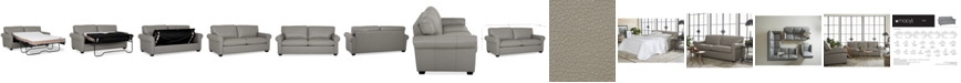 "Furniture Orid 77"" Full Leather Sleeper, Created for Macy's"
