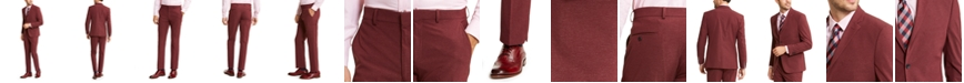 Perry Ellis Men's Slim-Fit Stretch Red Dobby Tech Suit