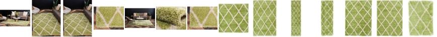 Bridgeport Home Latisse Shag Lts1 Light Green Area Rug Collection