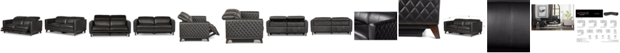 Furniture Jaconna 2-Pc. Leather Sofa with 2 Power Recliners, Created for Macy's