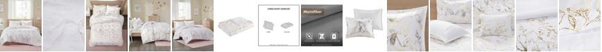 Intelligent Design Magnolia Metallic Floral 3-Piece Full/Queen Duvet Cover Set