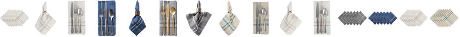 Design Imports Chambray French Stripe Napkin, Set of 6