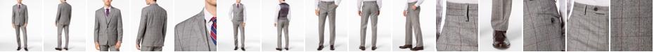 Lauren Ralph Lauren Men's Classic-Fit UltraFlex Stretch Black/White Windowpane Vested Suit Separates