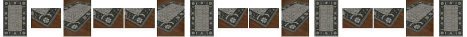 D Style Torrey Tor1 Pewter Area Rugs Collection