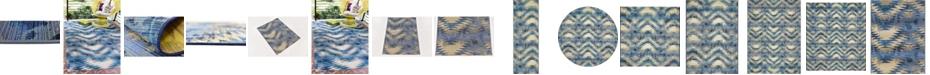 Bridgeport Home Pashio Pas2 Blue Area Rug Collection