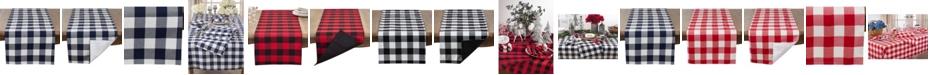 Saro Lifestyle Buffalo Plaid Cotton Blend Table Runner