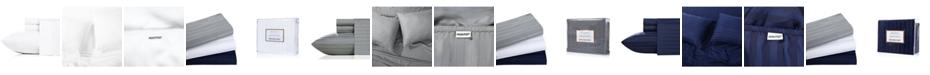 California Design Den 500 Thread Count CVC 3-Piece Stripe Sheet Set, Twin
