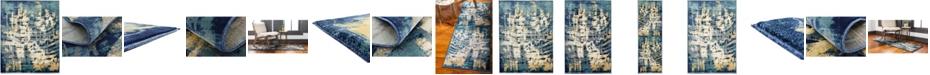 Bridgeport Home Marblesea Mrb5 Navy Blue Area Rug Collection