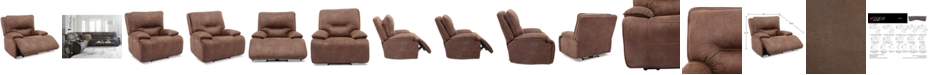Furniture Felyx Fabric Power Recliner With Power Headrest And USB Power Outlet
