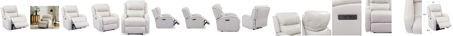 Furniture Leiston Leather Dual Power Recliner with USB Power Outlet