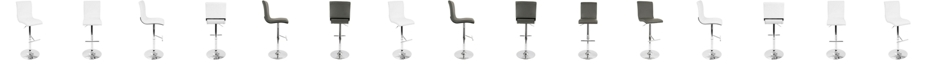 Lumisource Spago Adjustable Barstool with Swivel in Faux Leather