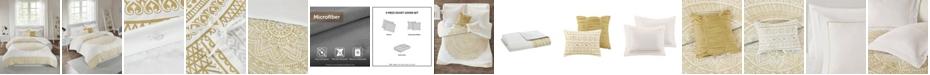 Intelligent Design Nomad Full/Queen 5 Piece Metallic Medallion Printed Duvet Cover Set