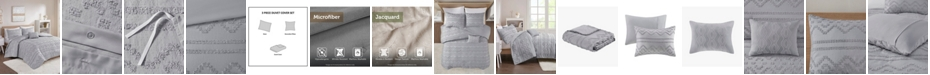 Intelligent Design Annie 3 Piece Twin/Twin XL Solid Clipped Jacquard Duvet Cover Set