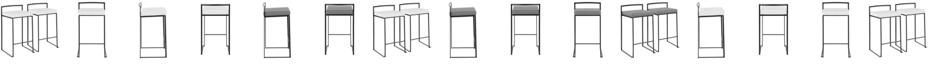 Lumisource Fuji Stackable Barstool Set of 2