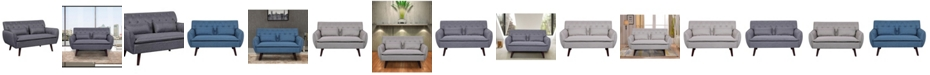 Us Pride Furniture Nicolasa Linen Tufted Loveseat