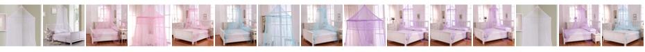Epoch Hometex inc Cottonloft Galaxy Collapsible Hoop Sheer Mosquito Net Bed Canopy