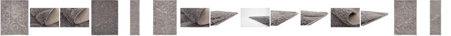 Bridgeport Home Malloway Shag Mal1 Dark Gray Area Rug Collection