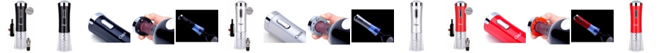 Ozeri Nouveaux II Electric Wine Opener with Foil Cutter, Wine Pourer and Stopper