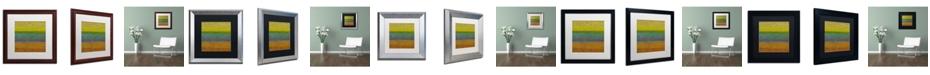 Trademark Global Michelle Calkins 'Chartreuse Line' Matted Framed Art