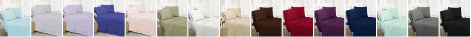 Swift Home Ultra Soft Microfiber Double Brushed Blissful Dreams King Sheet Set