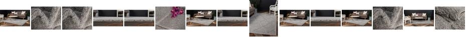 Bridgeport Home Filigree Shag Fil1 Gray Area Rug Collection