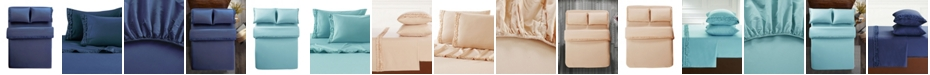 Lily & David Bella Shabby Chic Easy Care Ruffled Microfiber Bed Sheet Set, Twin