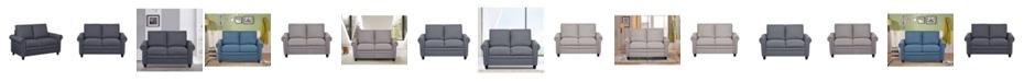 Us Pride Furniture Rosalind Linen Upholstered Loveseat