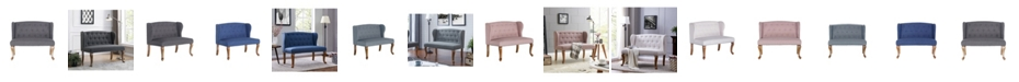 Us Pride Furniture Cowles Tufted Chesterfield Loveseat