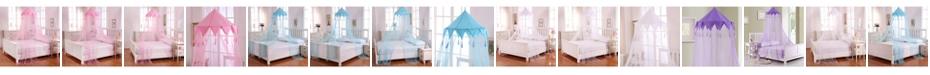 Epoch Hometex inc Cottonloft Harlequin Collapsible Hoop Sheer Mosquito Net Bed Canopy