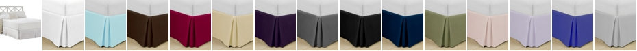 "Swift Home Home Basic Easy Fit Microfiber Pleated 14"" Drop Queen Bedskirt"