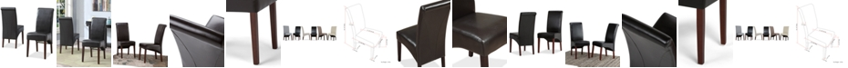 Simpli Home Easton Set of 2 Faux Leather Deluxe Parson Chairs