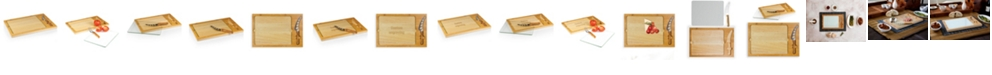 Picnic Time Toscana® by Icon Glass Top Cutting Board & Knife Set