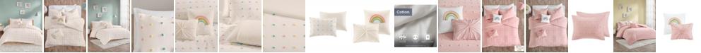 Urban Habitat Callie Twin/Twin XL 4 Piece Cotton Jacquard Pom Pom Comforter Set