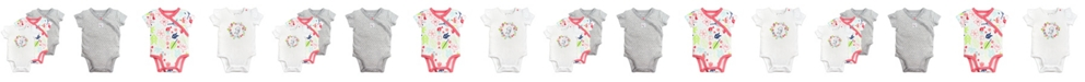 Mac & Moon Mac and Moon 3-Pack Short Sleeve Bodysuits in Bird and Floral Prints