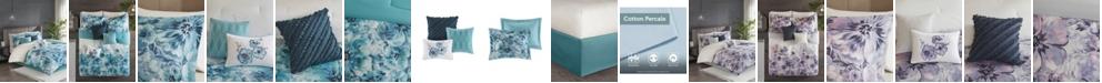 JLA Home Madison Park Enza California King 7 Piece Cotton Printed Comforter Set