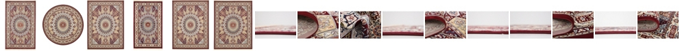 Bridgeport Home Zara Zar9 Burgundy Area Rug Collection