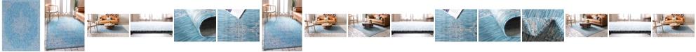 Bridgeport Home Pashio Pas8 Light Aqua Area Rug Collection