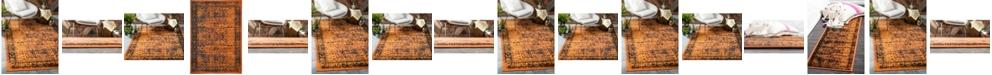 Bridgeport Home Linport Lin1 Terracotta/Black Area Rug Collection