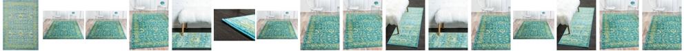 Bridgeport Home Linport Lin3 Blue Area Rug Collection